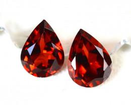 Almandine 2.65Ct 2Pcs Natural Vivid Blood Red Almandine Garnet E2904/B1