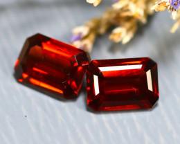 Almandine 2.48Ct 2Pcs Natural Vivid Blood Red Almandine Garnet E2906/B1