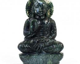 Genuine 3565.00 Cts Moss Agate Massive Lord Buddha