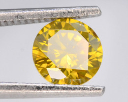 Yellow Diamond 0.70 ct Top Grade Brilliance .AQ.