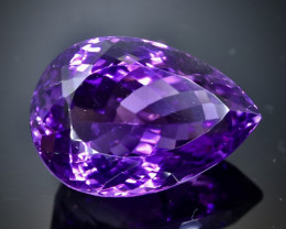 Crt  20.91  amethyst  Natural  Faceted Gemstone.( AB 35)