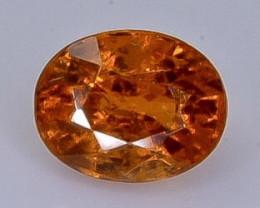 Crt 1.00 spessartite garnet  Natural  Faceted Gemstone.( AB 35)