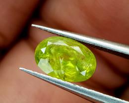 1.05Crt Green Sphene Color change Natural Gemstones JI83
