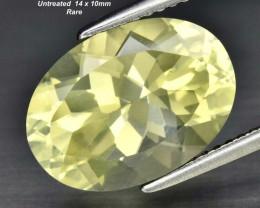 Rare  5.77ct VS Transparent Labradorite - Untreated / Brazil / 14x10mm
