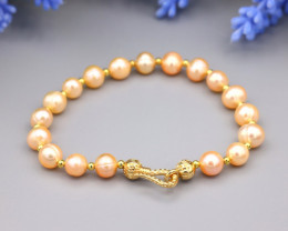 51.25Ct Baroque Freshwater Pearl Beads Bracelet A2511