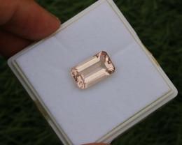9.805 CTs Natural & Unheated~ CIGTL Certified Peach Pink Morganite Gemstone