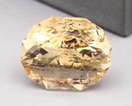 Scapolite 19.34Ct Oval Cut Natural Yellow Color Scapolite B2515