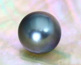 Tahitian Pearl 10.7mm Natural Tahitian Black Salt Water Pearl B2531