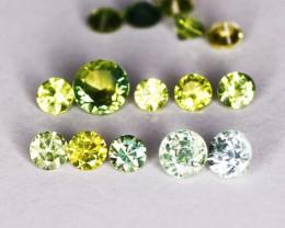 16 Pcs Natural Green Sapphire Gemstones