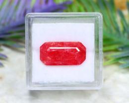Rhodonite 6.69Ct Octagon Cut Natural Rare Rhodonite A2607
