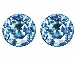 Paired Blue Zircon Natural Gemstone