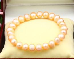 8.5mm Baroque Freshwater Pearl Beads Bracelet B2635
