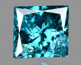 Blue Diamond 0.18 Cts Princess Natural Fancy Intense Color