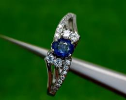 14.52CT BLUE SAPPHIRE HEAT BE 925 SILVER 8 BEST QUALITY GEMSTONE IIGC124