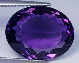 13.56 ct  Top Quality Gem  Oval Cut Natural Purple Amethyst