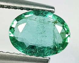 1.17 ct  Excellent Gem  Lovely Oval Cut Natural Emerald