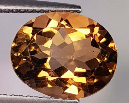 6.30 Ct Top Quality Oval Cut Natural Champagne Topaz
