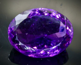 Crt 18.06 amethyst  Natural  Faceted Gemstone.( AB 36)