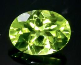 Crt 1.45 Peridot Natural  Faceted Gemstone.( AB 36)