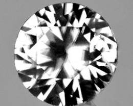 5.00 mm Round 0.75ct White Zircon [VVS]