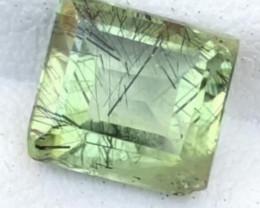 2.90 Carats Natural Rutile Peridot Cut Stone from Pakistan