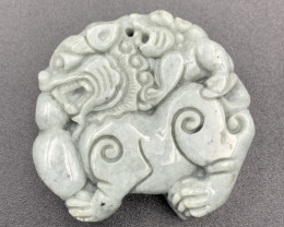 258.95 Cts Awesome Hand Carved Jade.