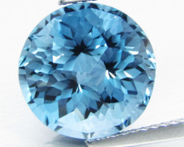 9.00Cts Sparkling Natural London Blue Topaz Round precision Cut Loose Gem