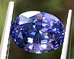 1.34ct Violetish-Blue Sapphire With Excellent Luster And Fine Cutting Gemst