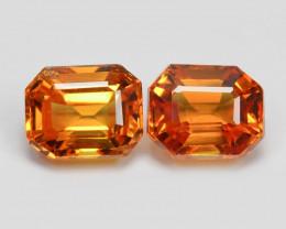 Orange Sapphire 1.31 Cts 2Pcs Natural Fancy Color Gemstone- Pair