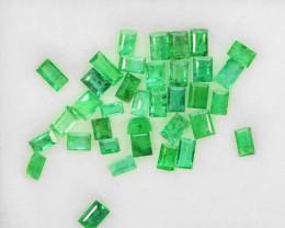 2.60 Cts Natural Vivid Green Emerald 35Pcs Baguette Cut Colombia