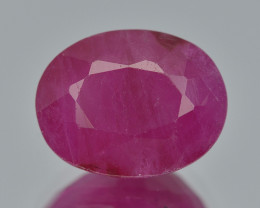 Ruby 2.90 Cts  Pinkish Red Color Natural Ruby Gemstone