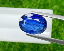 Kyanite 4.46 Cts  Royal blue step cut BGC2934 | From Nepal