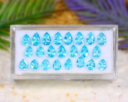 Blue Apatite 7.70Ct VS Pear Cut Natural Brazil Neon Blue Apatite Lot B2719