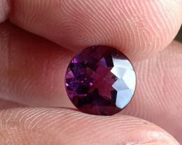 8x8mm Deep Purple Amethyst Natural Untreated Gemstone VA2186