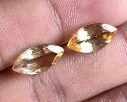 7x14mm Citrine Pair Natural Marquise Faceted Gemstone VA2188