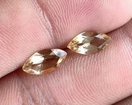 5x10mm Citrine Pair Natural Marquise Faceted Gemstone VA2191