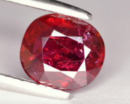 AGL CERTIFIED 2.55CRT VIVID RED-  PEGION-BLOOD RUBY -  MOZAMBIQUE