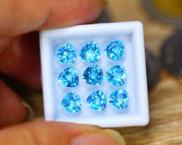 9.41Ct Natural Sky Blue Topaz Trillion Cut Lot LZ173