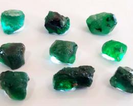 Rough Natural Emerald - Brazil -9  Units - 99 CTS