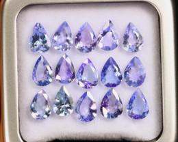 8.46cts Natural Tanzanite Gemstone LOTS / AAKL1795