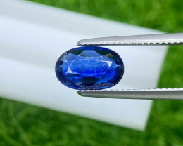Kyanite 2.4 Cts  Royal blue step cut BGC2937 | From Nepal