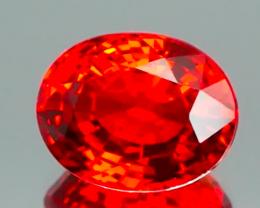 Vibrant Orange Red Songea Sapphire 4.26Ct.