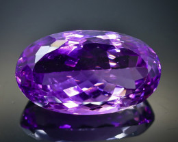 Crt 24.50  amethyst  Natural  Faceted Gemstone.( AB 37)