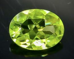 Crt 1.22 Peridot Natural  Faceted Gemstone.( AB 37)