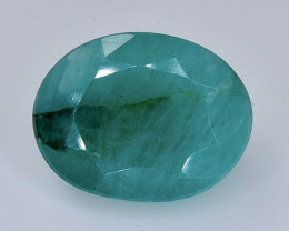 Crt 5.29 emerald  Natural  Faceted Gemstone.( AB 37)