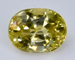 Crt 1.31 zircon  Natural  Faceted Gemstone.( AB 37)