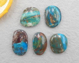 D2833 - 40cts Natural Blue Opal Cabochons, October Birthstone, Blue Opal Ca