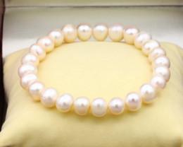 8.5mm Baroque Freshwater Pearl Beads Bracelet C0907