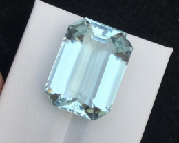 Top Grade 20.65  ct lovely Aquamarine Ring Size~T