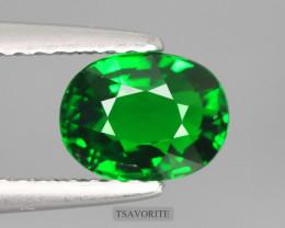 1.230Cts Tsavorite Certified Vivid Green Garnet 100% Natural Unheated